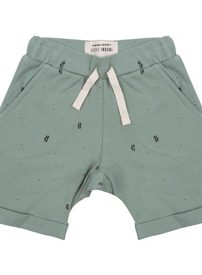 Shorts PalmLeaves - Soft Green