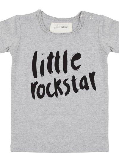 Shirt Little Rockstar - Grey melange