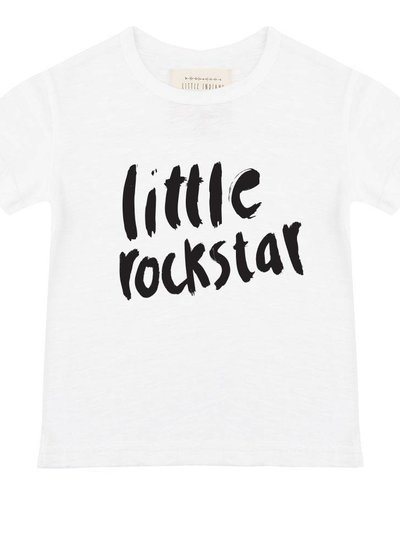 Shirt Little Rockstar - White