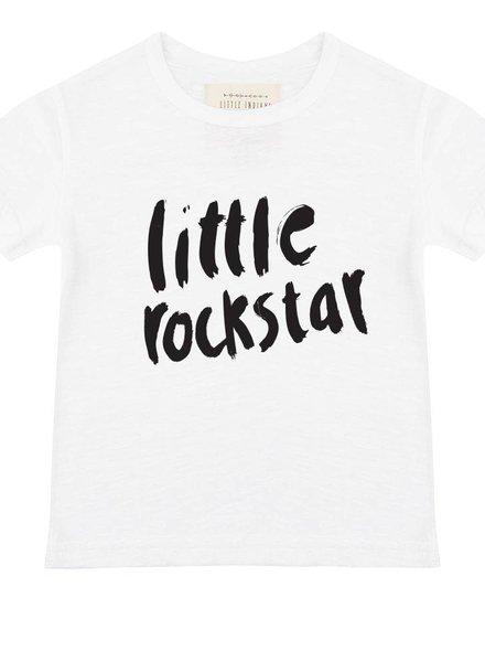 Shirt Little Rockstar - White