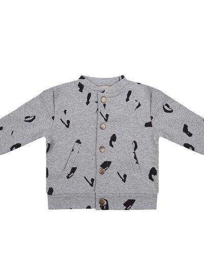 Baseball jacket Animal - Grey Melange