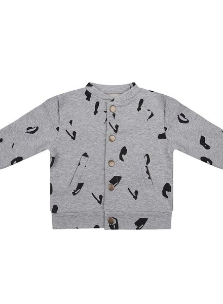 Baseball jacket Animal - Grey Melange