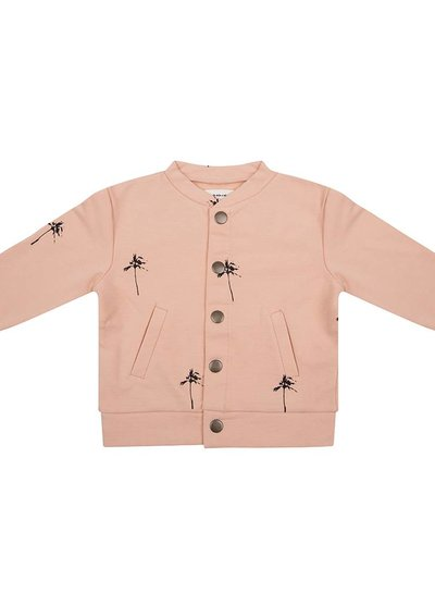 Baseball jacket Palmtrees - Dusty Coral