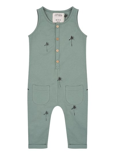 Jumpsuit Palmtrees - Soft Green
