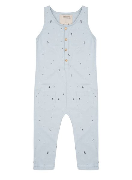 Jumpsuit Palm Leaves - Baby Blue