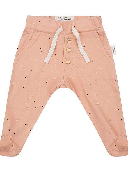 Newborn Pants Little Stars - Dusty Coral