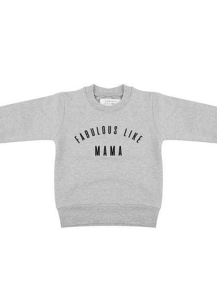 Sweater Fabulous Like Mama - Grey Melange KIDS