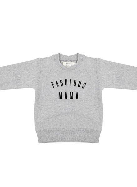 Sweater Fabulous Mama - Grey Melange MOM
