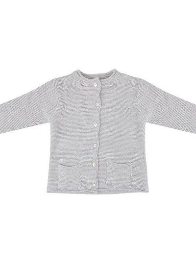 Knit Cardigan - Light Grey