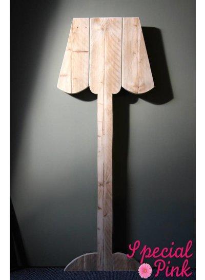 Wandrek lamp Ida van steigerhout