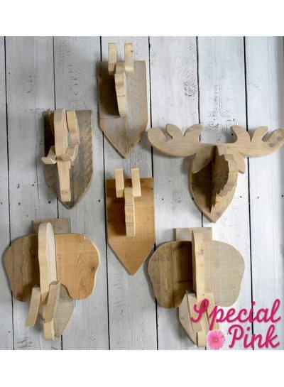 Dierenkop varken van steigerhout