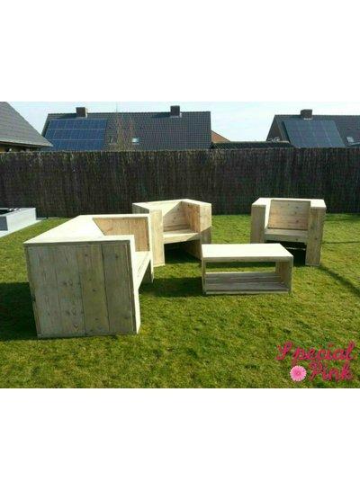 Loungeset Edwin van steigerhout