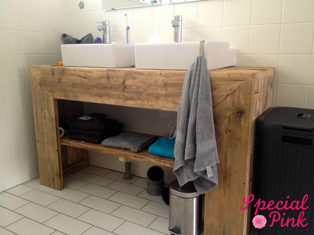 Badkamermeubel Van Steigerhout : Badkamer steigerhout steigerhouten badkamermeubel