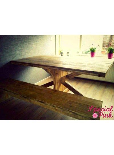 Eettafel Bill van steigerhout