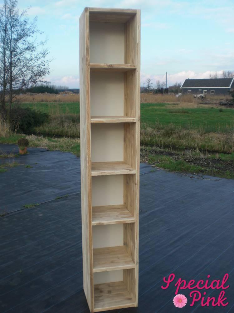 Boekenkast klein woonkamer for Boekenkast steigerhout