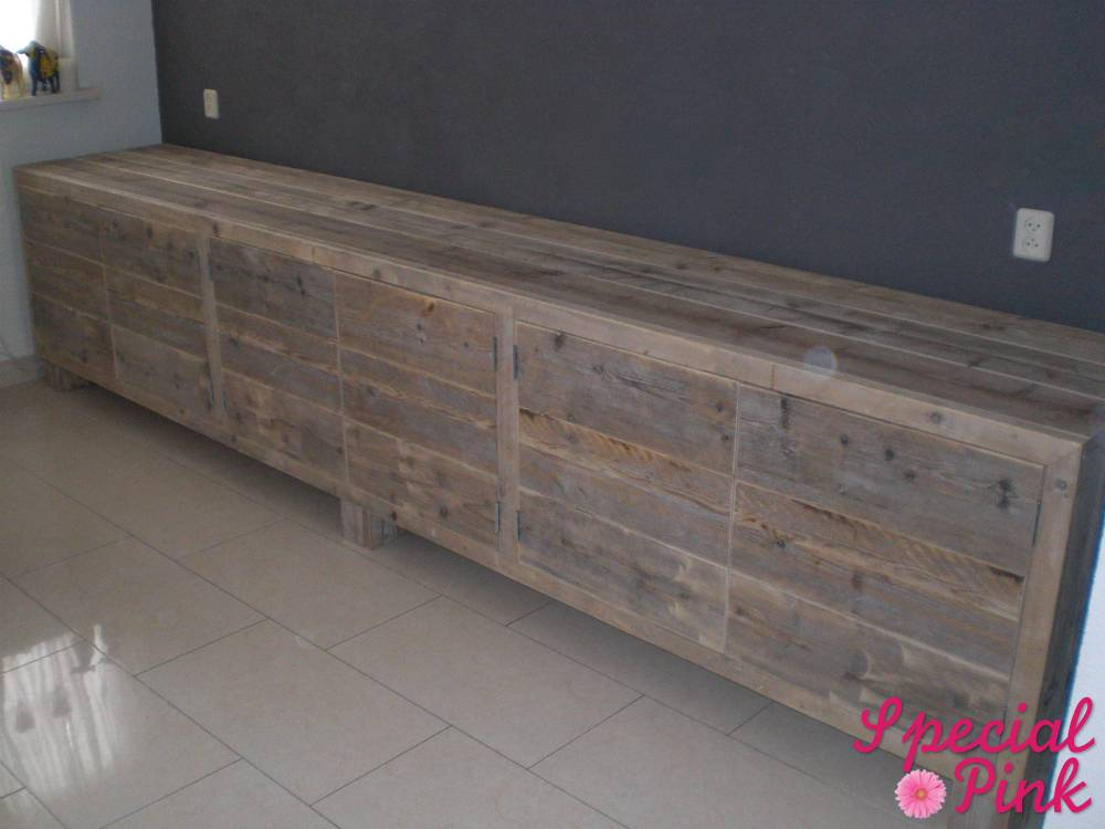 Steigerhout kast goedkoop perfect hok maken voor with for Meidenkast tweedehands