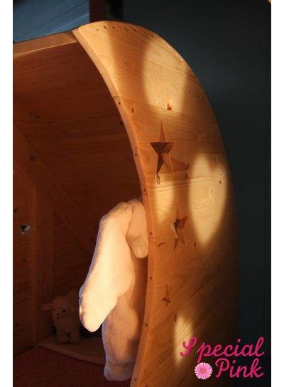 Maanwieg Charlotte van steigerhout