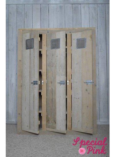 Lockerkast Aaron van steigerhout