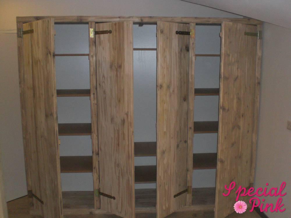 grote kledingkast van steigerhout voordelig special pink