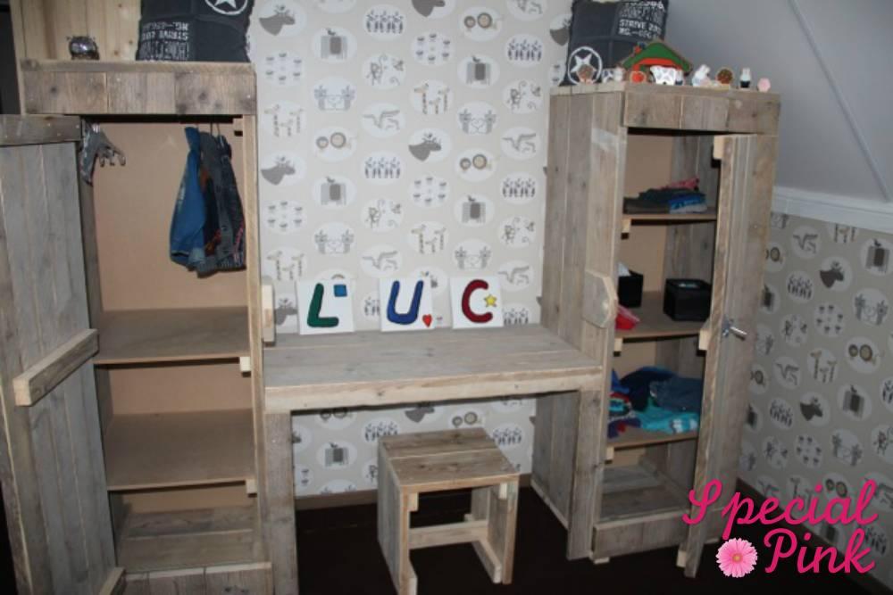 Bureau kast combinatie kind: kinderkamer long island wit bed