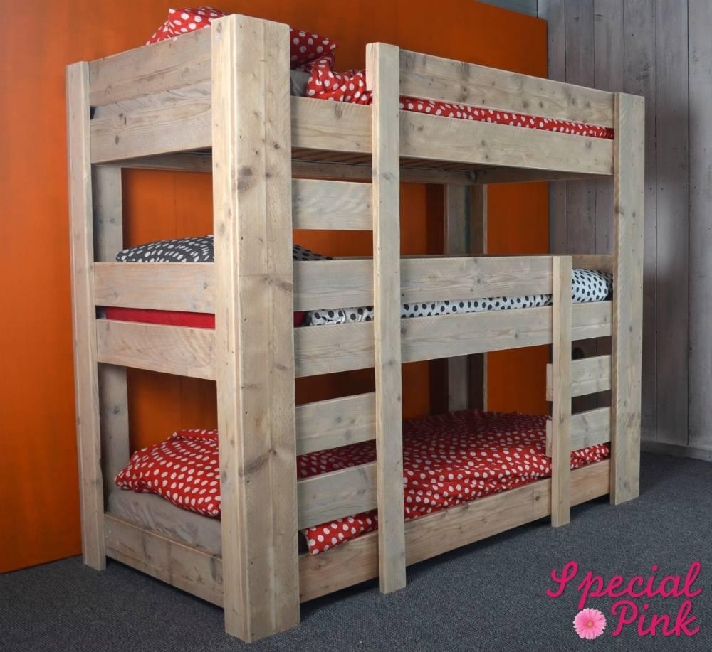 Affordable Stapelbed Kinderkamer Steigerhout Model Maud Dit Mooie With  Kinderkamer Steigerhout With Kinderkamer Stapelbed With Goedkoop Stapelbed.