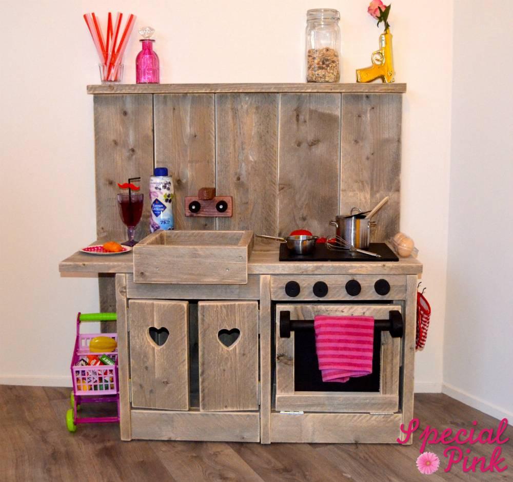 Kinder keuken van steigerhout, goedkoop bij Special Pink! - Special ...
