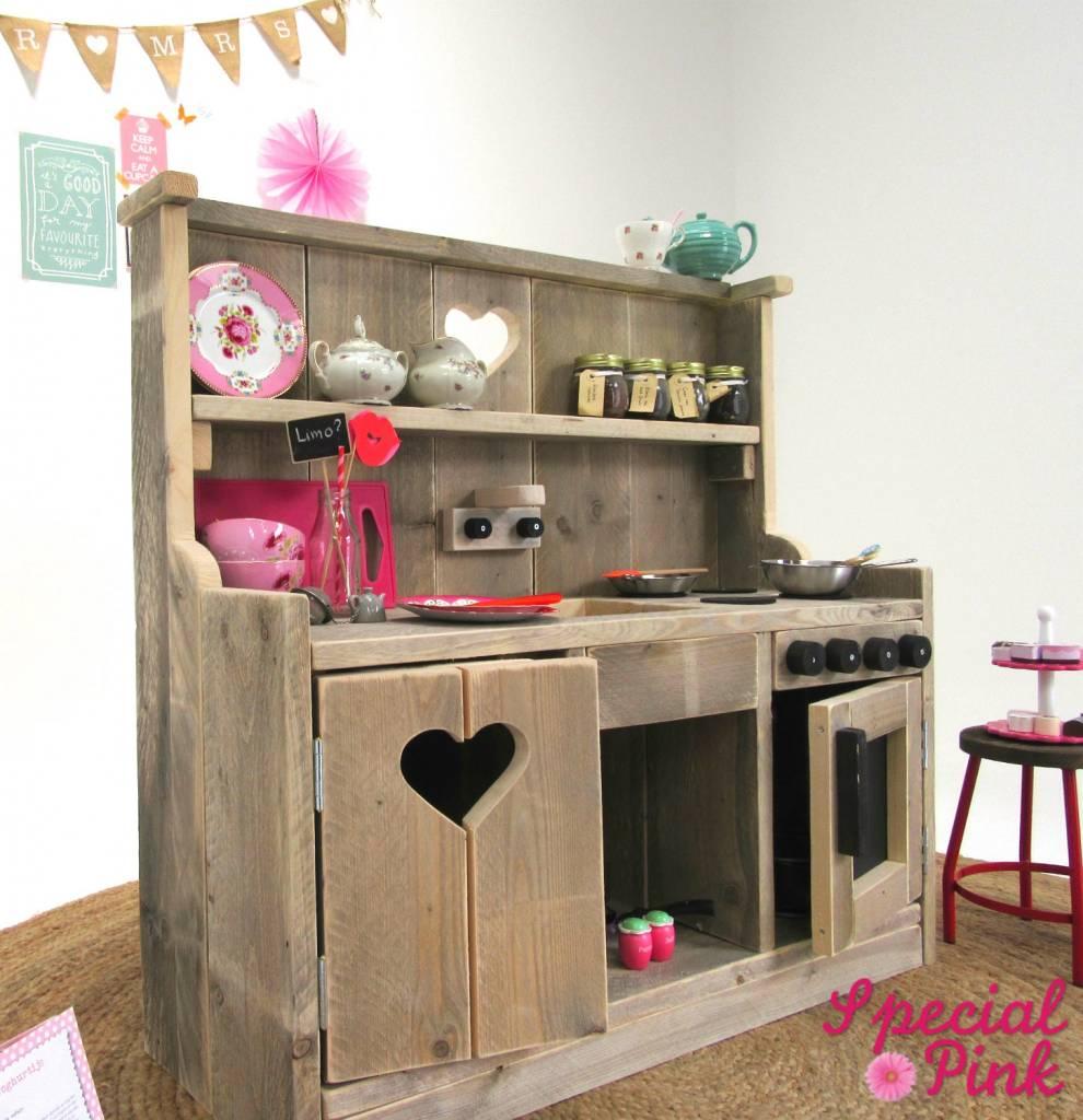 Zelf Een Speelgoed Keuken Maken : Kinder keuken van steigerhout, goedkoop bij Special Pink! – Special