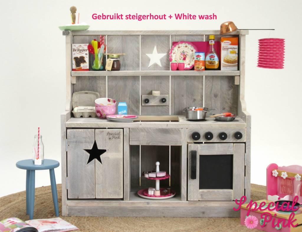 Slaapkamer Nina Bureau : Kinder keuken van steigerhout, goedkoop bij ...