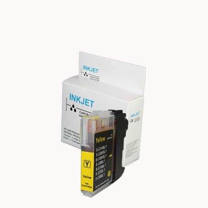 Toners-kopen.nl Huismerk inkt cartridge voor Brother LC 980 LC 985 LC 1100 geel