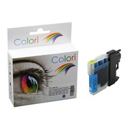 Toners-kopen.nl Premium Colori Alternativ Patrone für Brother LC 980 985 1100 Cyan