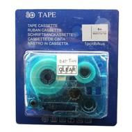 Toners-kopen.nl Schriftbandkassette Alternativ voor Brother Tze141 Schwarz auf Transparent