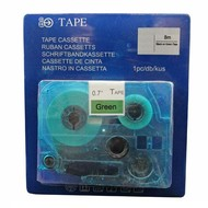 Toners-kopen.nl Schriftbandkassette Alternativ voor Brother Tze741 Schwarz auf Grün