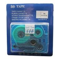 Toners-kopen.nl Schriftbandkassette Alternativ voor Brother Tze133 Blau auf Transparent