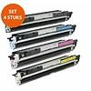 Toners-kopen.nl Premium Set 4 x Premium Toner voor Hp 126A Color Laserjet Cp1025 1 x CE310A. 1 x CE311A. 1 x CE312A. 1 x CE313A.