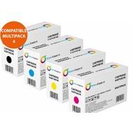 Toners-kopen.nl Set 4x huismerk Toner voor Dell E525 E525w 593-BBLN 593-BBLL 593-BBLZ 593-BBLU