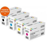Toners-kopen.nl Premium Set 4x huismerk Toner voor Xerox Phaser 6128<br /> Xerox Phaser 6128MFP 6128MFPN 6128 MFP MFP N 6128N MFP