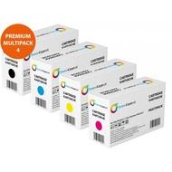 Toners-kopen.nl Premium Set 4x huismerk Toner voor HP 312A 312X CF380X-383A (je 1x zwart, cyan, magenta, geel) HP Color Laserjet Pro 400 M476 M476dn M476dw M476nw M476 dn dw nw