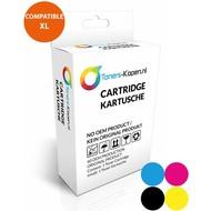 Toners-kopen.nl huismerk inkt cartridge voor HP302XL F6U67AE kleur 18 ml (met niveau-indicator) Deskjet 1110 2130 3630, Envy 4520 All-in-One, Officejet 3830 4650