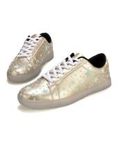 Trimodu Sneakers fluoreszierend mit Sternmuster