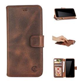 Celkani ® - Lederen Book Wallet ID (brown TPU) - iPhone 6/6s - Antiek bruin