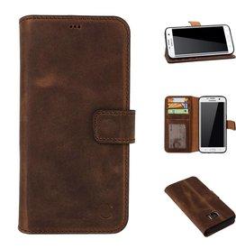 Celkani ® - Lederen Book Wallet ID (black TPU) - Samsung S7 Edge - Antiek bruin