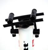 barnett SРС-02 Велосипедный седлодержатель, карбон, 31,6мм*350, 223 гр, черный/белый
