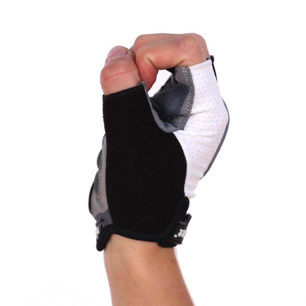barnett BG-04 Велосипедные перчатки для соревнований с короткими пальцами, белые