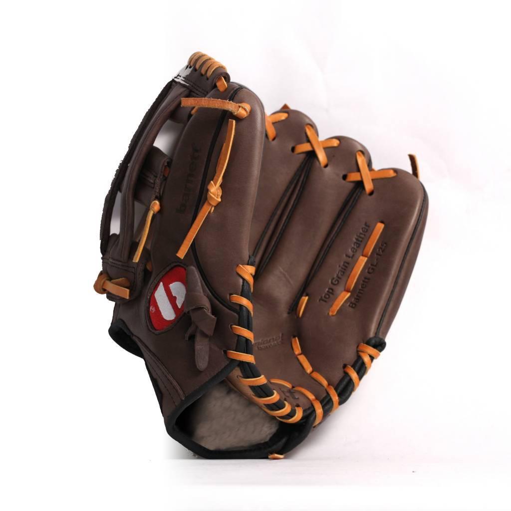 barnett GL-125 Бейсбольная перчатка, аутфилд, натуральная кожа, 12.5', RH, коричневая