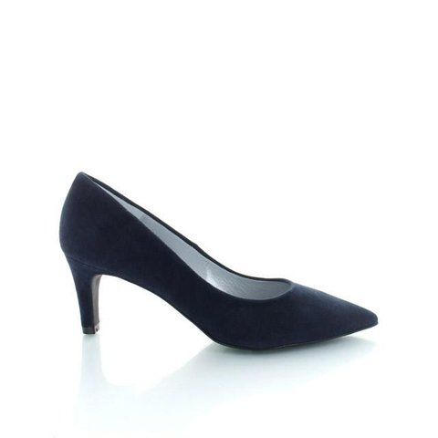 Ancona, Suède Pumps Donkerblauw