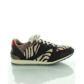 Running Sneaker, Sneaker Zwart Zebra