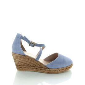 Mataro, Suède Schoenen Pastelblauw