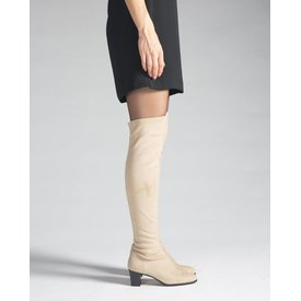 Maxima, Stretchlaars Overknee Taupe