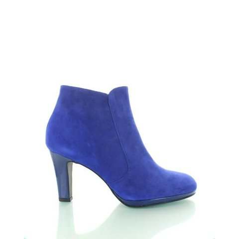 Capri Shoot, Suède/Lak Enkellaarzen Royal Blue