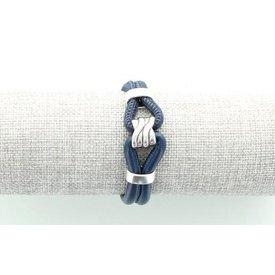 Leren Armband, Donkerblauw